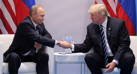 الرئيس الروسي فلاديمير بوتين و دونالد ترامب الرئيس الأمريكي