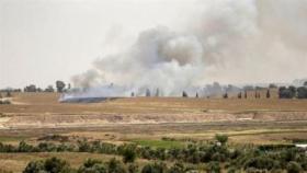 """5 حرائق بأحراش الإسرائيلية شرقي قطاع غزة بفعل """"طائرات حارقة"""""""