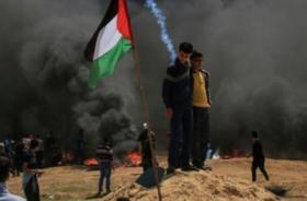 اصابات في قمع الاحتلال مسيرة العودة شرق غزة