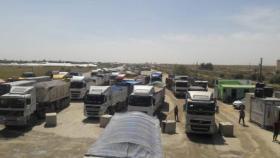 إعادة ضخ الغاز ومواد بناء عبر كرم أبو سالم