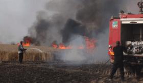 اندلاع حريق شرق موقع ناحال العوز بفعل البالونات الحارقة