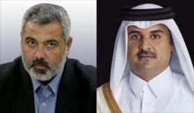 هنية يبحث مع أمير قطر التطورات السياسية