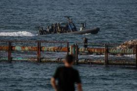 اقامة مخيم عودة جديدة على الحدود البحرية شمال غرب قطاع غزة