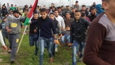 إصابات برصاص الاحتلال شرق غزة