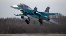 """سقوط مقاتلة طراز """"سو-34"""" في الشرق الأقصى الروسي ونجاة طاقمها"""