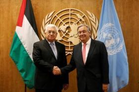 """أبومازن لـ أمين عام الأمم المتحدة: """"نريد حماية دولية"""""""