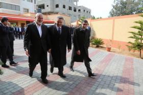 الوفد المصري يغادر القطاع عقب اجتماعه مع قيادة حماس