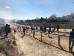 إصابات خلال مواجهات مع جيش الاحتلال الإسرائيلي في بيت سيرا (فيديو)