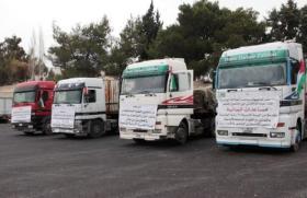 تسيير قافلة مساعدات أردنية لقطاع غزة