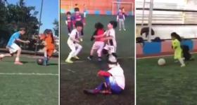 فيديو مذهل لطفل يلعب كرة القدم بشكل احترافي!