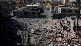 إصابتان خلال انفجار بمنزل تعرض للقصف خلال العدوان الأخير على غزة