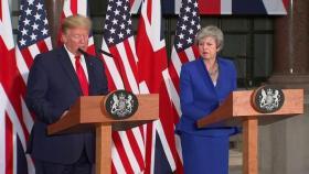 شاهد  على الهواء مباشرة.. ترامب يوبخ عمدة لندن وسط تجاهل ماي