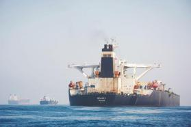 ناقلة النفط الإيرانية التي احتجزتها بريطانيا منذ حوالي شهر تغادر جبل طارق بعد الإفراج عنها