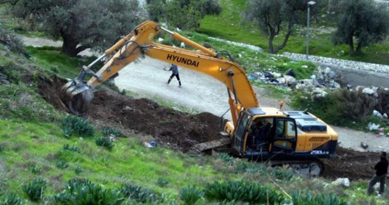 جيش الاحتلال يقتلع أشتال نخيل في قرية الجفتلك بالأغوار
