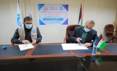 غزة : توقيع اتفاق انشاء مجمع سكني لإيواء الفقراء والأيتام