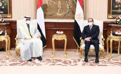 محمد بن زايد والسيسي يبحثان في القاهرة العلاقات الأخوية والمستجدات في المنطقة