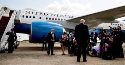 """ترامب في أول تصريح صحفي بعد مغادرة البيت الأبيض: """"سنفعل شيئا"""""""