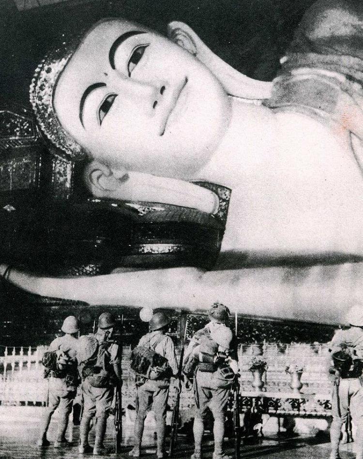 جانب من القوات اليابانية ببورما