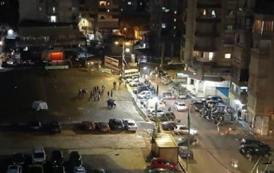 شاهد.. اشتباكات ليلية بالقذائف في ضاحية بيروت الجنوبية