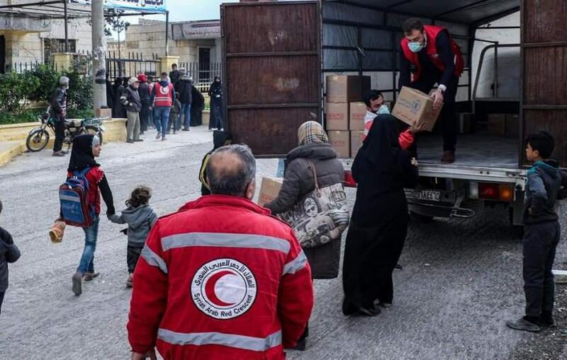 1884 عائلة يتلقون الدعم الغذائي مع عودتهم إلى قرى حلب