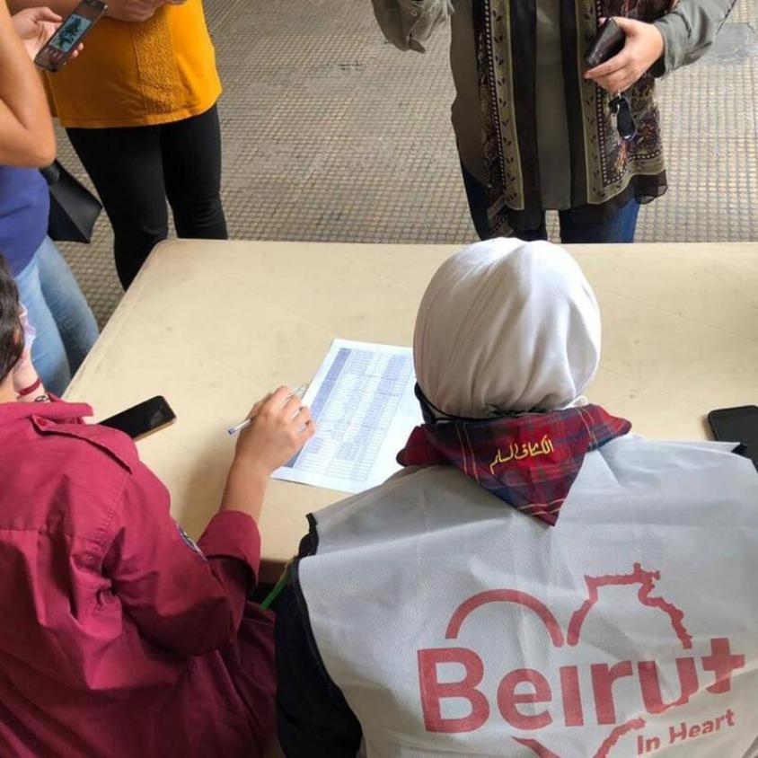 """المبادرة الشبابية """"beirutinheart""""بتوزيع حصص غذائية على الاسر اللبنانية"""