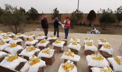 625 عائلة تستفيد من المساعدات الغذائية في تل تمر