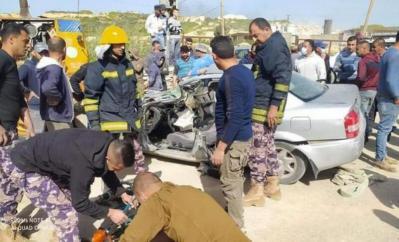 جنين : الشرطة تعلن مصرع شقيقين في حادث سير..صور