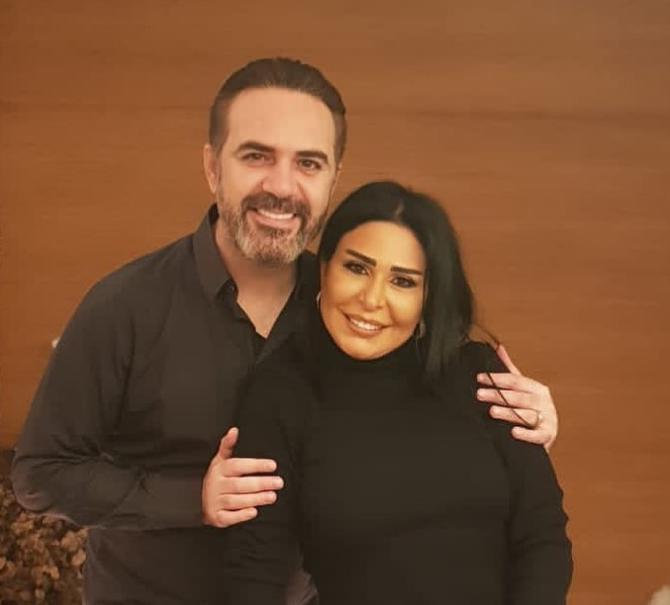 وائل جسار مع زوجته ميراي