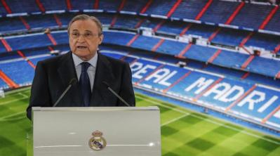 """فلورنتينو بيريز: أريد إنقاذ كرة القدم بـ """"السوبرليغ"""""""