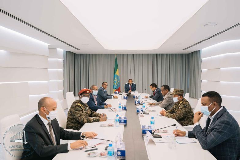 اجتماع مجلس الأمن الإثيوبي بحضور آبي أحمد