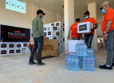 مشروع مساعدات عاجلة للمتضررين من الحرب على غزة