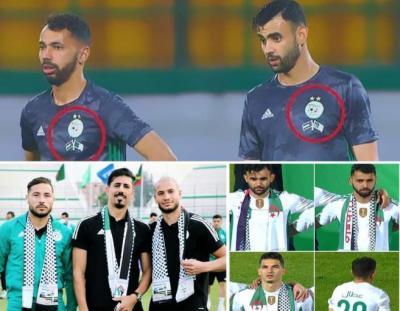 بالكوفية الفلسطينية منتخب الجزائر يهزم موريتانيا برباعية (شاهد)