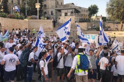 """إسرائيل تستنفر قواتها في القدس استعدادا لـ """"مسيرة الاعلام"""""""