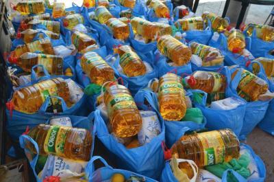 الرحمة العربية تغيث لبنان بـ (480) طن مساعدات غذائية
