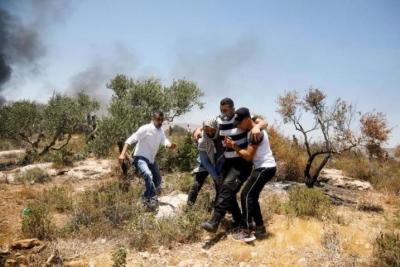 الهلال الأحمر: 146 إصابة بينها 9 بالرصاص الحي خلال مواجهات جبل صبيح