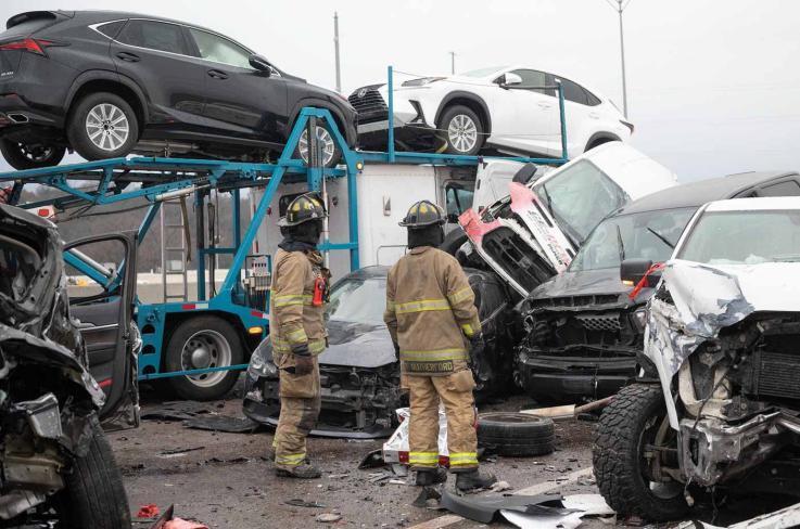 السعودية.. حادث مروري ضخم يسحق السيارات (فيديو)
