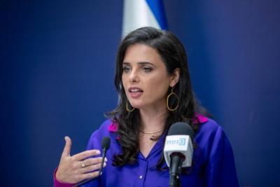 وزيرة إسرائيلية من الإمارات: لن تكون هناك دولة فلسطينية