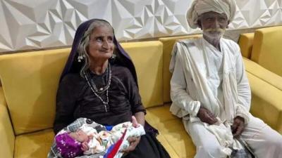 الهند.. امرأة سبعينية ترزق بمولودهـا الأول بعد 45 عام زواج