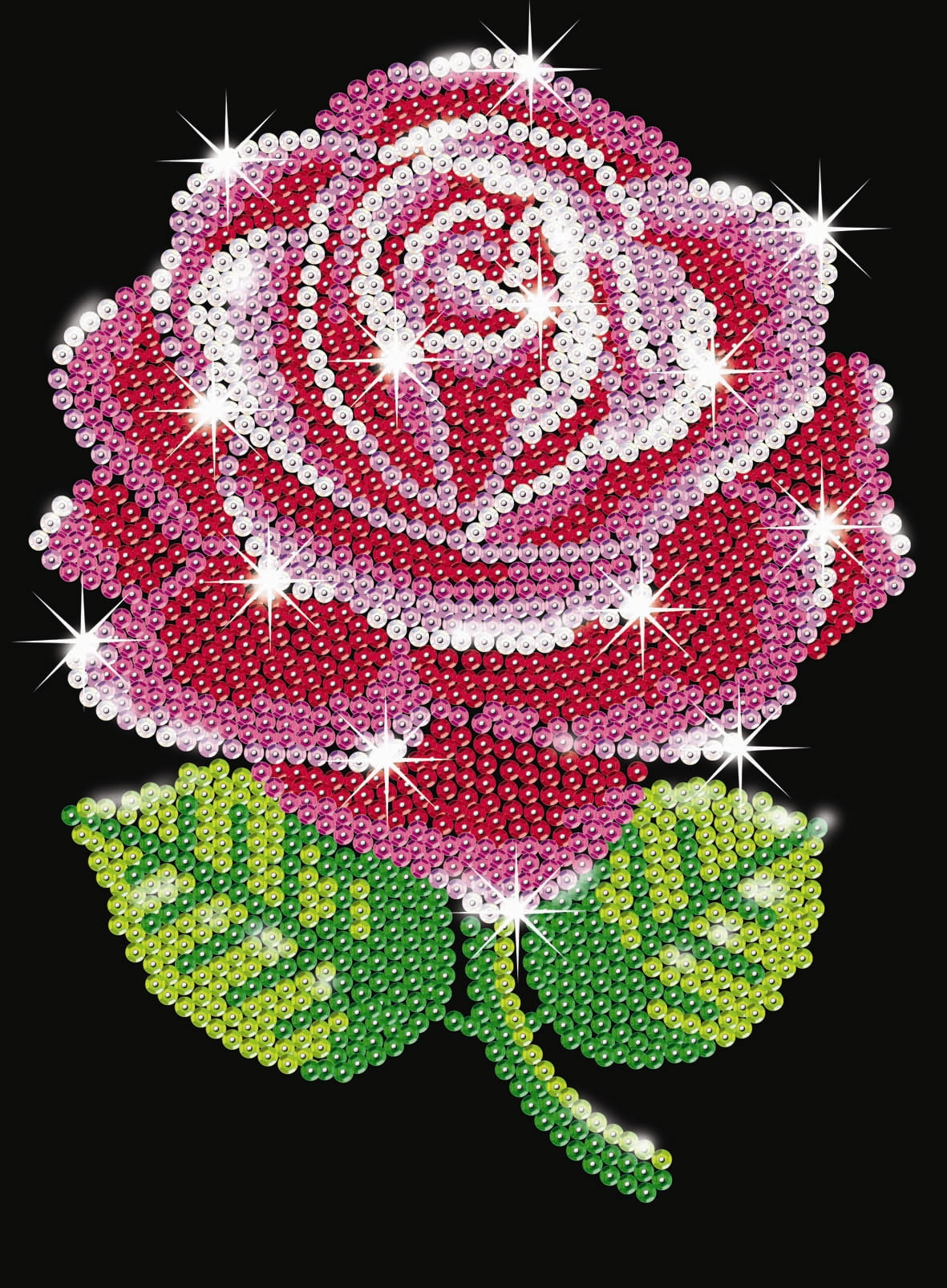 Sequin Art Red Rose Sa1001 Ksg Hobbies