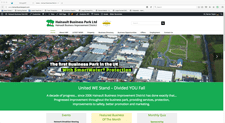 hainault business park website designed by alwaysinspired