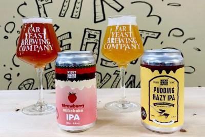 Far Yeast Brewing「Strawberry Milkshake IPA」「Pudding Hazy IPA」