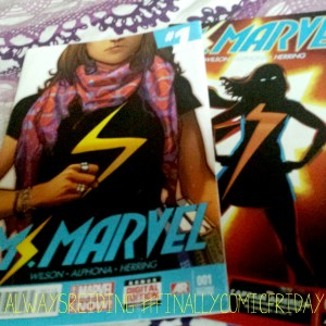 #FinallyComicFriday is featuring Ms Marvel's first two issues this week