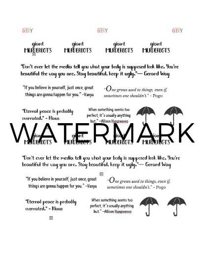Watermarked version of Umbrella academy quote pdf