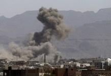 غارة طيران العدوان يستهدف منزل الشيخ الزايدي في صرواح بمأرب