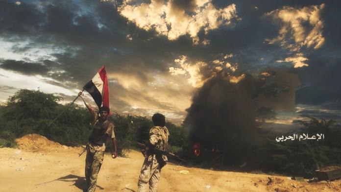تطهير مواقع مرتزقة الجيش السعودي قبالة جبل الدود تعديل13 05