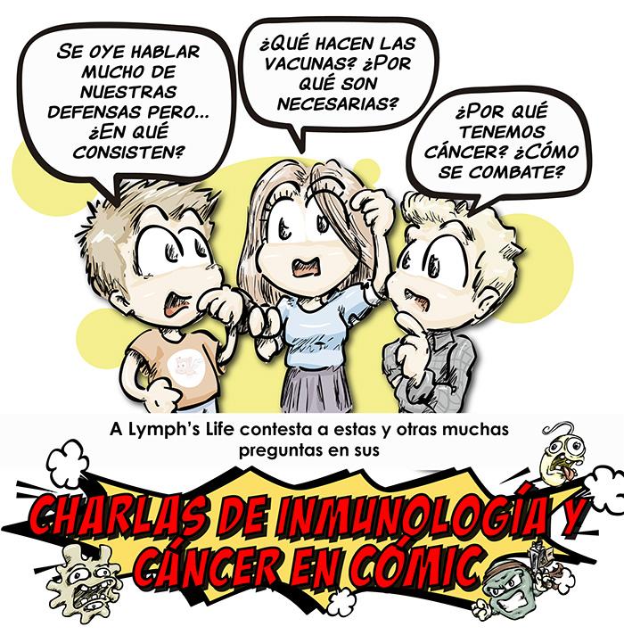 Charlas Inmunología y Cáncer en Cómic