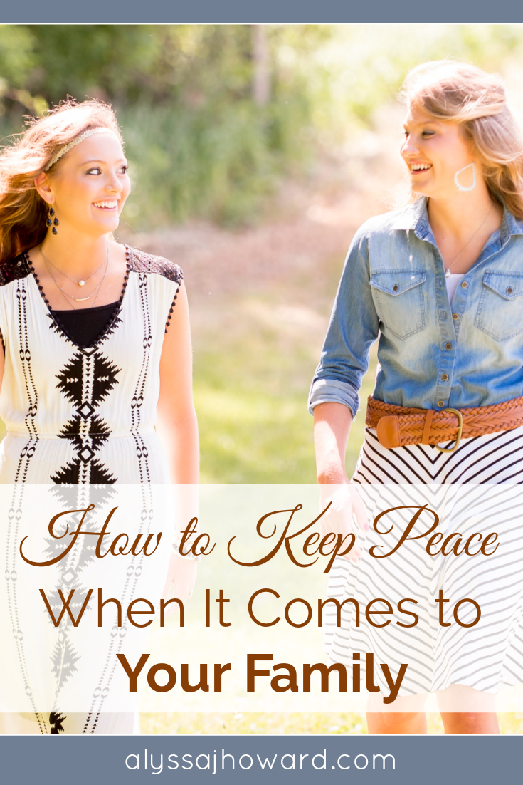 When it comes to our family, how do we cope with tragedies, poor decisions, or hurt feelings? How do we keep peace and demonstrate love as Christians?