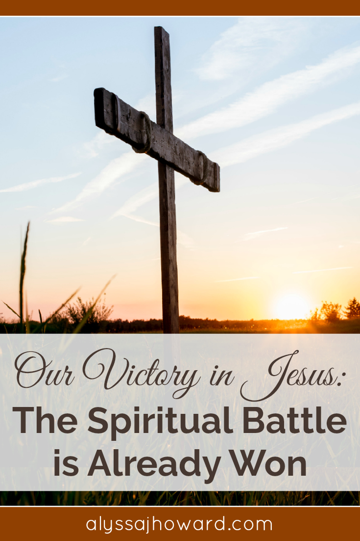 As we face personal struggles in our lives, never forget the truth. The battle is already won. Jesus is King of kings, and the enemy already lost the war.