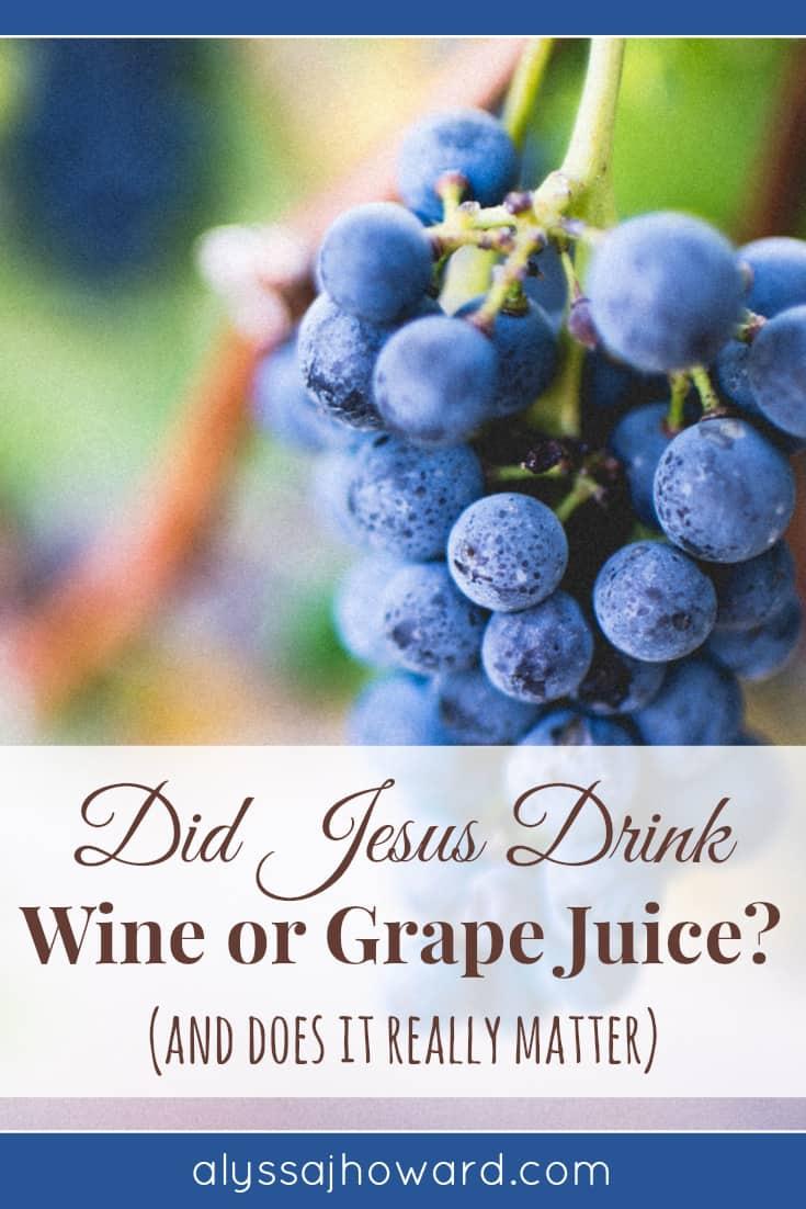 Did Jesus Drink Wine or Grape Juice? (and does it really matter?) | alyssajhoward.com
