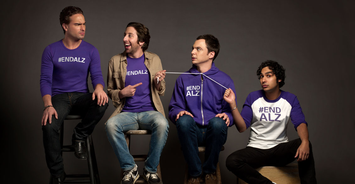 Cast of The Big Bang Theory support the fight to end Alzheimer's disease.